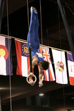 young gymnast on rings poster