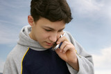 boy talking on the phone poster