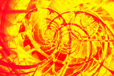 abstract red and yellow spiral background poster