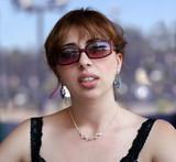 girl in sunglasses poster