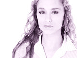 beautiful teen girl with long curly blonde hair poster