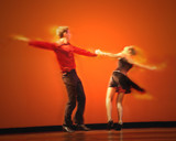 dramatic image of a couple dancing poster