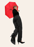 businesswoman with an umbrella poster