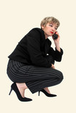 businesswoman speaking on the phone poster