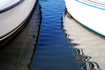 abstract boat reflections
