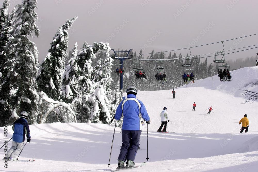 alpejskie góra śnieg - powiększenie