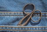 jeans et ciseaux poster