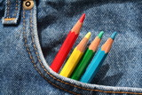 jeans et  crayons poster