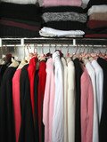 closet with clothes poster