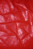 wrinkled old red leather