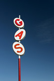 retro gas sign poster