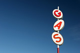 gas sign retro poster