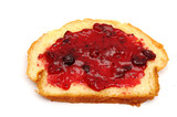 piece of french bread with jam poster