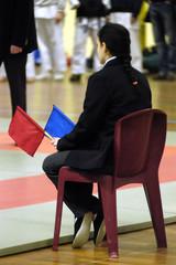 juge arbitre au karate