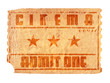 aged cinema ticket