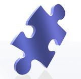 blue puzzle piece poster