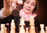 business woman - make the right move poster