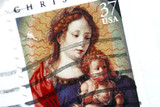 christmas postage stamp poster