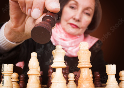 business woman - make the right move