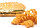 twister fries and grilled chicken burger poster