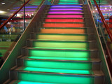 rainbow stairs poster