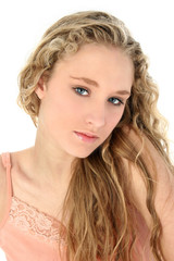 portrait of glamorous blonde