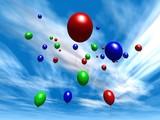 balloons - daytime sky poster