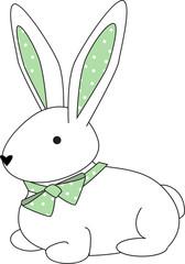 bunny- green dots
