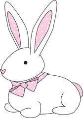 bunny- pink dots