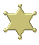 gold star - sheriff badge 3d poster