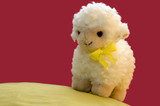 a toy sheep in spring poster