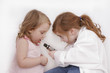 little girls playing doctor