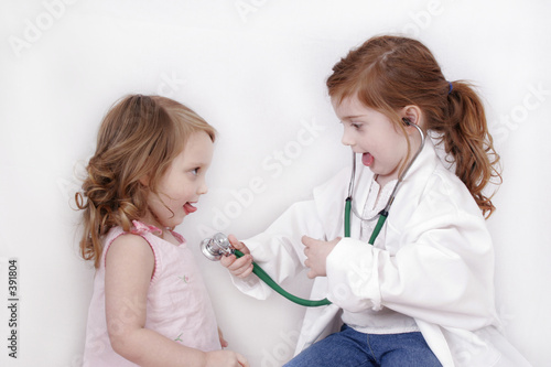 sisters playing doctor