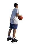isolated young basketball-player poster