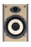 isolated loud speaker poster