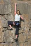 blonde climber poster
