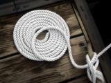 boater's art - white boat rope