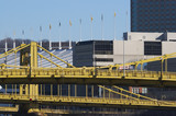 pittsburgh bridge &  convention center poster