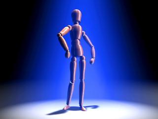 posing in the spotlight - blue light
