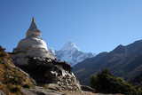 buddhistické čhortenu - Nepál