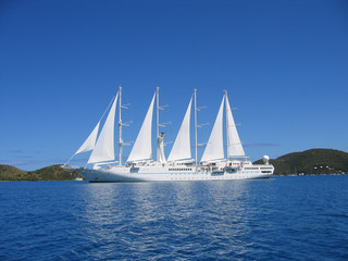 motor sailing cruise ship