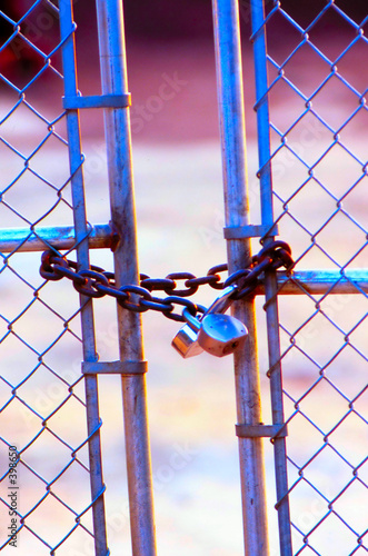 poster of chain fence