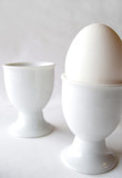 one egg - two egg cups poster