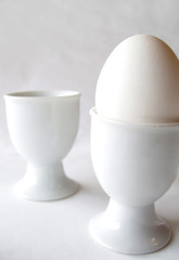 one egg - two egg cups