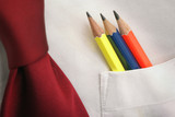 pencils-in-a-shirt-pocket poster