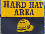 hard hat area sign poster