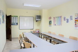 classroom interior poster