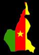 carte du cameroun sur fond noir