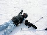 girl ski winter poster