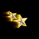 gold 3d shooting stars poster